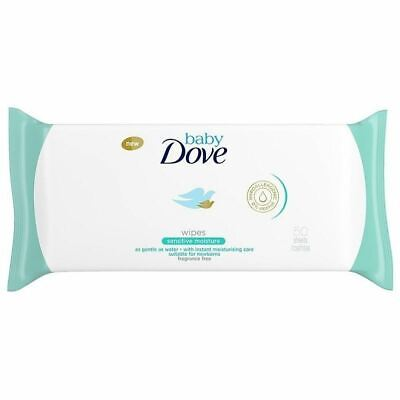 Dove Baby Sensitive Moisture Wipes Fragrance Free Pack Of 50