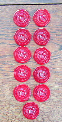 Tanqueray gin bottle seal chips / seals (qty 11)