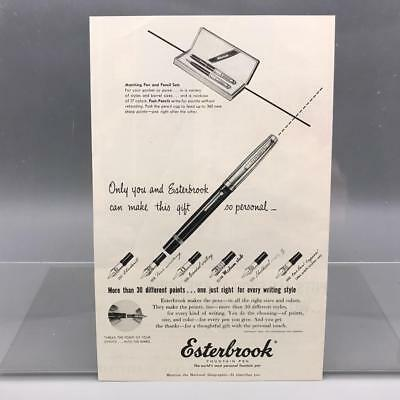 Paper Advertising Prints 3 Available 1948 EsterBrook /& Norma Pencil Pick 1