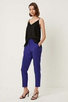 French Connection Electric Blue Sundae Suiting Tailored Trousers Size Uk 10