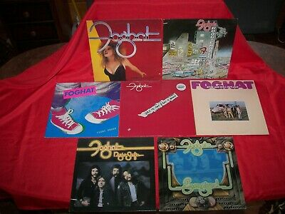 lot 7 FOGHAT boogie motel night shift energized tight shoes LP record album NM
