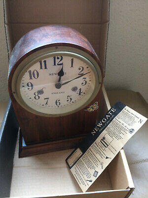 mantle clock, battery, repro, vintage, Newgate, Heals, boxed, cheap & cheerfull