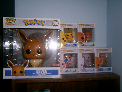 6 pc Funko Pop Pokemon lot - Mewtwo, Mr. Mime, Vulpix, Target exclusive 10 inch