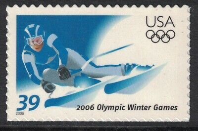 Scott 3995- 2006 Winter Olympic Games, Skiing- MNH (S/A) 39c- unused mint stamp