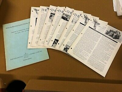 Vintage 1970c Rolls-Royce Owners' Club Electrical Systems Chapter II Tech.Ser.