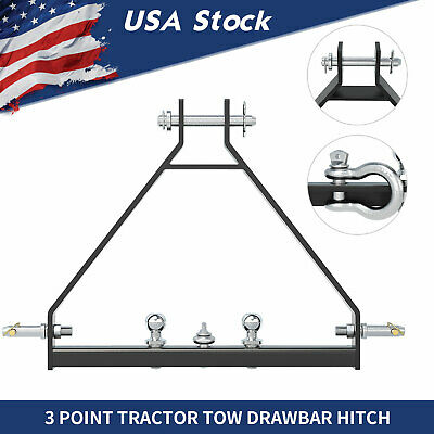3 Point Trailer Receiver Hitch Tow Drawbar Fit Quick Hitch iMatch Cat 1 Tractor