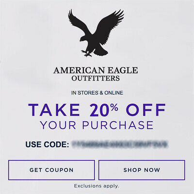 20% OFF American Eagle Outfitters & Aerie Promo Coupon Code Ex 5/31/20