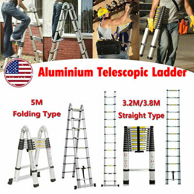 Telescopic Folding Ladder Articulated Extendable For Home Multipurpose Portable