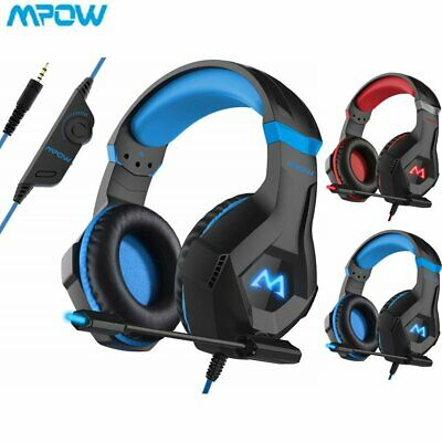 Mpow Gaming Computer Headset Wired LED Over Ear Headphones for Xbox One PS4 PC