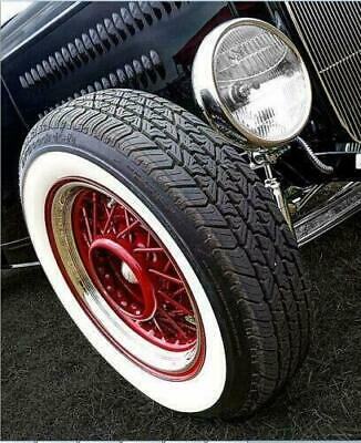 15 Inch Rims 2'' Wide Whitewall Topper Tire Trim Insert Style Set of 4 pcs