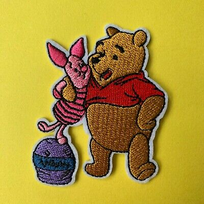 Disney Winnie The Pooh Piglet Character  Embroidered Appliqué Patch Sew Iron On