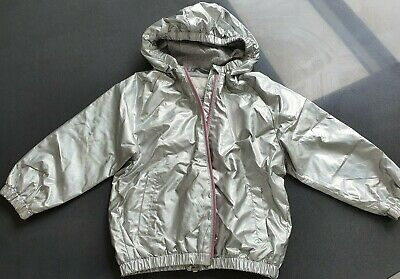 NEXT girls silver hooded jacket very thin size 1.5- 2 years old