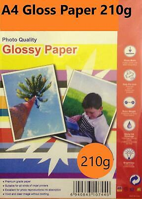 20 Sheets A4 210gsm High Glossy Photo Paper for Inkjet Printers