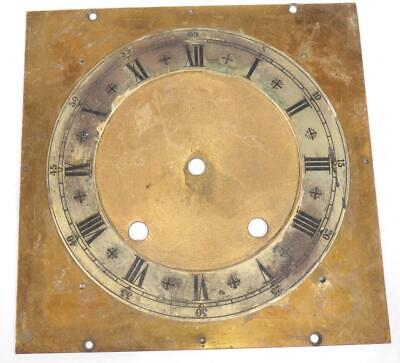 German Bracket Clock Dial Silver & Brass Engraved Dial For W&H Clock