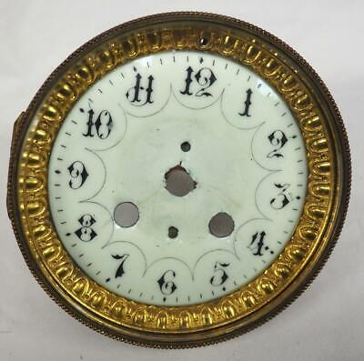 Enamel Clock Dial & Bezel French Clock Dial Arabic Numerals French Mantel Clock