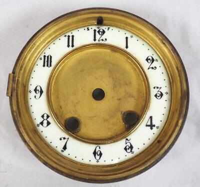 Enamel & Brass Dial Bezel French Clock Dial Roman Numerals French Mantel Clock