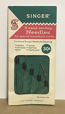 Vintage SINGER Hand Sewing Needles Lot of 5 in Package Style C-29