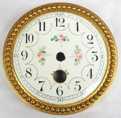 Enamel clock Dial French Clock Dial Roman Numerals For French Mantel Clock c1900