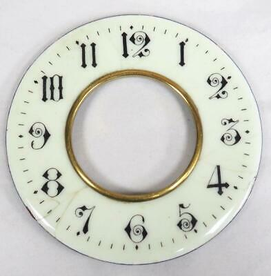 Enamel Clock Dial French Clock Dial Outer Chaptering Enamel Chaptering C1900