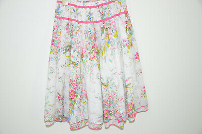 Gorgeous Monsoon Girls lined skirt Age 10-12 Floral sequins birds
