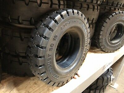 4.00-8/3.00 Continental Solid Pneumatic Tire Rim Size 3 Forklift NashFuel