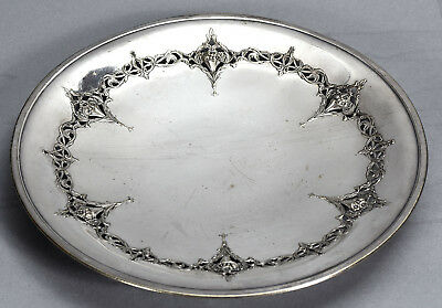 "Homan Mfg. Co. Ohio EPNS Silverplate Footed 10"" Plate Sheffield Design 03008"