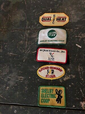 Patches. Lot Of 5. Oil,gas And Electric