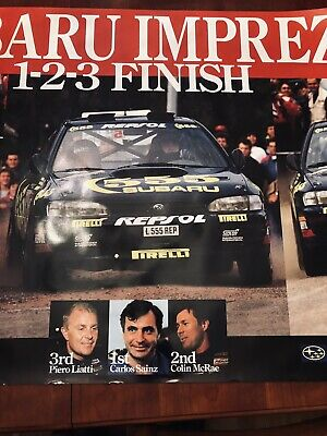 The 555 Subaru World Rally team poster Vintage Original
