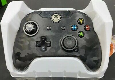 Xbox One Power A Wired Controller Gray Camo Color- Missing Left Joystick Pad