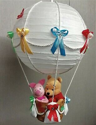 WINNIE THE POOH AND PIGLET in hot Air Balloon Lamp-light Shade for Baby Nursery
