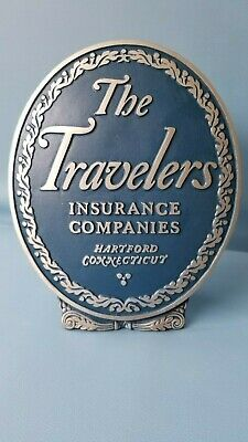 Travelers Insurance Company - Vintage Fire Mark Plaque Sign