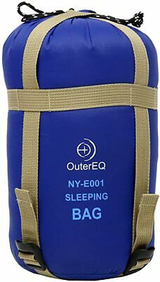 OuterEQ Camping Sleeping Bag Outdoor Hiking Small Compact Lightweight with Bag