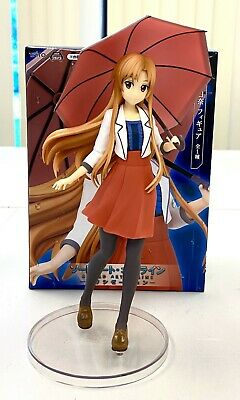Sword Art Online SAO Anime Casual Asuna with Umbrella Figure Toy Doll TA56400