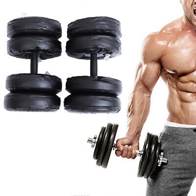 25kg Water Filled Adjustable Dumbbells Training Arm Muscle Fitness Portable