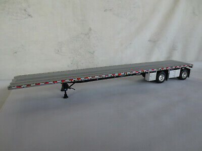 RED FRAME DCP 1//64 SCALE WILSON  ROAD  BRUTE  FLATBED  TRAILER  SILVER DECK