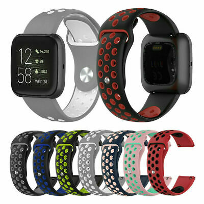 For Fitbit Versa 2 Replacement Silicone Sports Band Strap