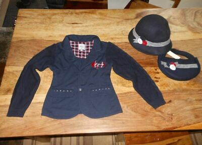 Mayoral Designer Girl's  Jacket, Hat and handbag Set Size  8-9 Years -