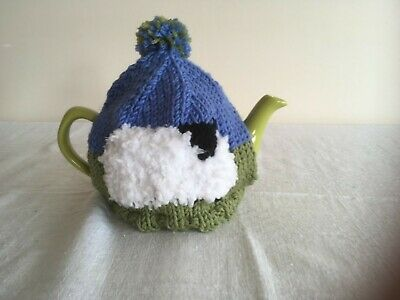 Sheep Tea Cosy -2 cup - Hand Knit in Merino Wool