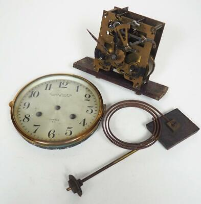 English Mantel Clock Movement 8 Day Striking Movement Camerer Cuss & Co