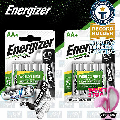 8x Energizer AA RECHARGEABLE UNIVERSAL Batteries HR6 1300mAh NiMH MN1500 Exp+