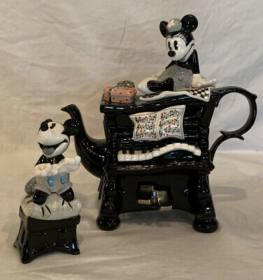 Disney Showcase Limited Paul Cardew : Mickey And Minnie Mouse Piano Large Teapot