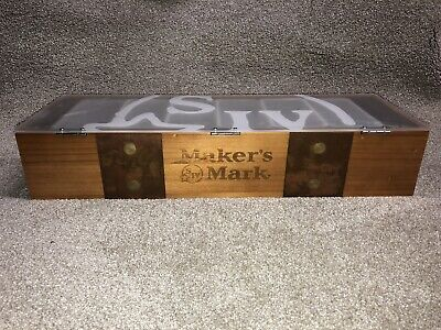 RARE Makers Mark Luxury Wooden Condiment Caddy Bar Fruit Tray
