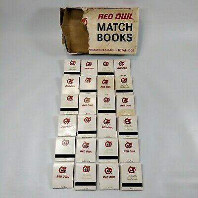 Vtg NOS Red Owl Grocery Store 24 Match Books Complete Unused *O*