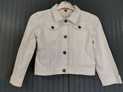 Kids Girls Denim Jacket white Jeans Jackets Fashion Coat 7-8Years