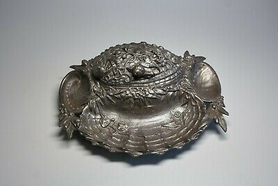 Antique Modern Style German Cast Iron Zimmermann in Hanau 11212 Inkwell