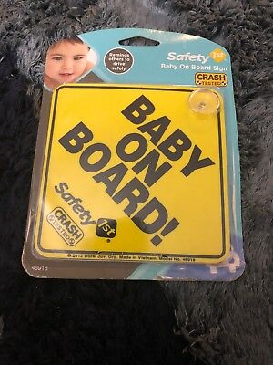 NEW - Safety 1st Baby On Board Sign - FREE SHIPPING