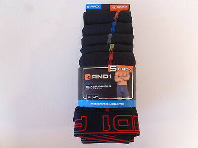 XLarge 40-42 AND1 Mens Compression Leg Performance Boxer Briefs 5 Pack rbg