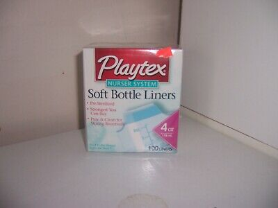 PLaytex soft bottle liners 4 oz 100 liners one package new