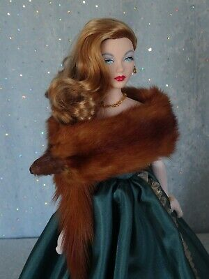 "AllforDoll sheared MINK Fur BOA WRAP for 16/"" Tonner Sybarite Ficon Lady Marion"