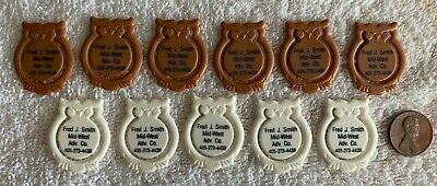 Vintage Lot of 11 Owl Bookmarks, Clips